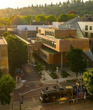 Portland State campus aerial shot